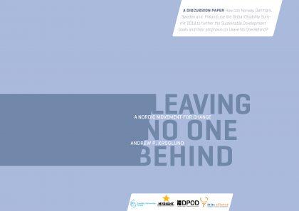 Omslaget för rapporten Leaving no one behind