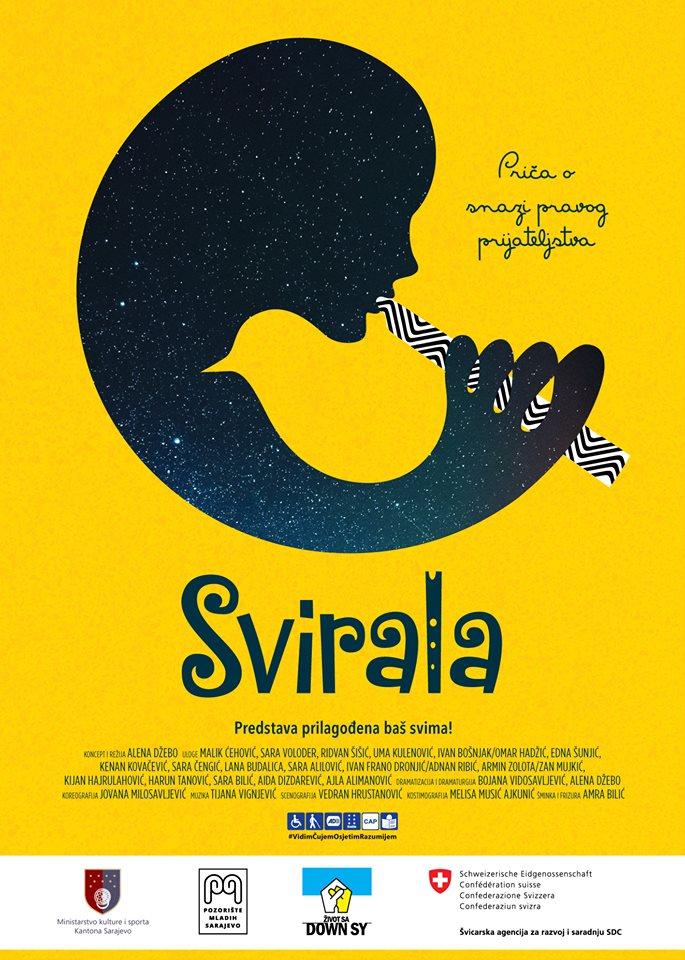 """Affisch för pjäsen """"A whistle"""", Illustrerar en människa som spelar ett blåsinstrument."""
