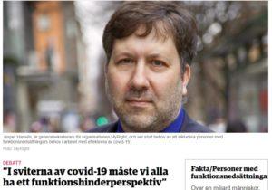 Skärmbild som visar en bild på generalsekreterare Jesper Hansén.
