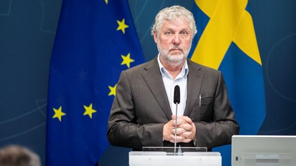 Porträtt på Peter Eriksson, biståndsminister.