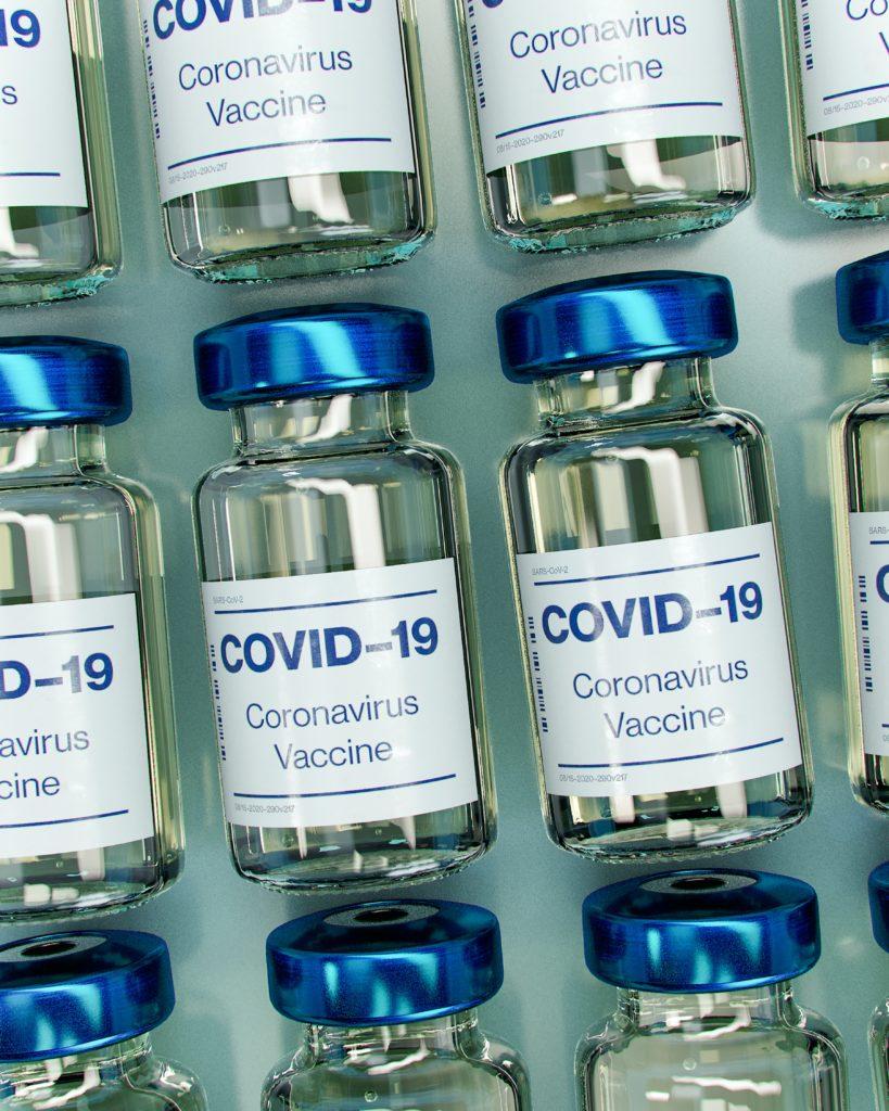 Vaccinflaskor.