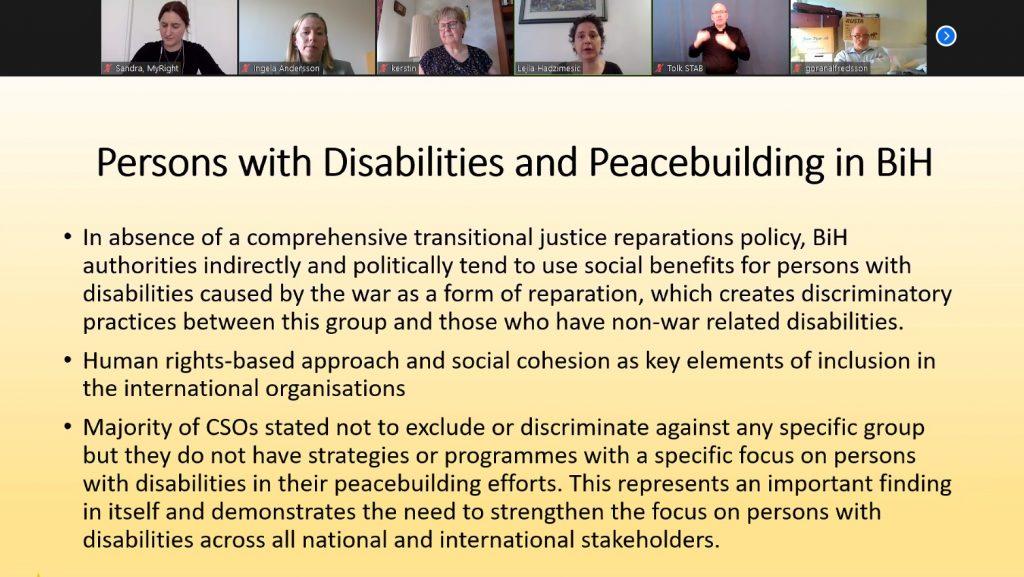 Skärmbild av seminariet